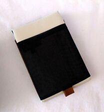 """Waterfield SF Bags 8.5"""" White/Black Tablet Sleeve Padded Leather Canvas New"""