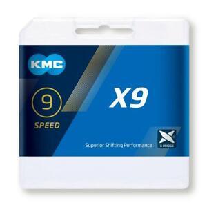 KMC X9 9 Cadena Velocidad 114 Link Plata O Oro