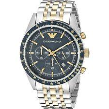Emporio Armani AR6088 Blue & Two Tone Steel Chronograph Mens Watch - RRP £349