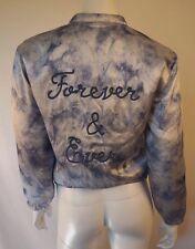ROSIE HW for PAIGE Denim Blue Tie Dye Silk Bomber Jacket Coat sz S NWT $398