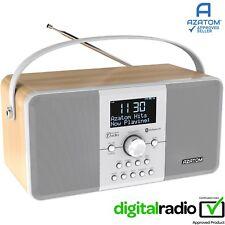 DAB Radio Clock Portable Digital Alarm Bluetooth AZATOM Mulitplex D1 - White