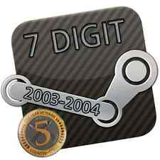 Steam Account * 7 Digit / 7 stellig * 14 Jahre / Years * 2004 + Original E-Mail