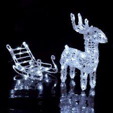 3d LED Ghirlanda di luci Renna con slitta illuminazione natalizia Illuminazione esterna