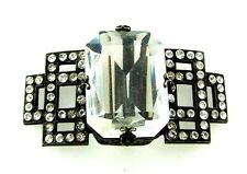 MARCACITE GLASS STONE BUCKLE STYLISH MADE IN FRANCE