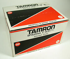 Tamron sp 4/400 400 400mm f4 ld if set top OVP Boxed complete adaptall - 2 Rare