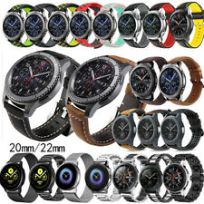 For Samsung Galaxy Watch Active 2/46mm/Gear S3 Leather/Metal/Silicone Band Strap
