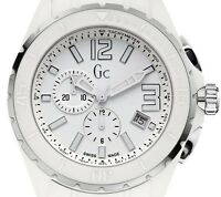 BRAND NEW GUESS COLLECTION X76012G1S XXL WHITE CERAMIC CHRONOGRAPH MEN'S WATCH