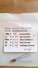 Oc84 testé germanium transistor 95/0.34