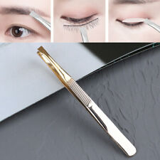 1Pcs Eyebrow Tweezers Professional Hair Beauty Slanted Stainless Steel TweezBW