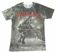 Motley Crue Nikki Sixx All Bad Things All Over Sublimated T Shirt New Official