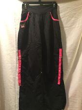Zumba Party in Pink Nylon Cargo Pants Capris Black Dance Fitness M Medium