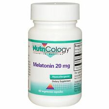 Nutricology MELATONIN 20 MG 60 VEGETARIAN CAPSULES Strong sedating effect
