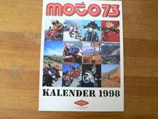 A542- MINI POSTER PARIS-DAKAR RALLYE NO 63 1997 ? & KALENDER 1998 MOTO 73