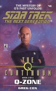 Star Trek: The Next Generation Q-Zone by Greg Cox (Paperback, 1998)