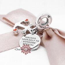 Pandora, S925 Anchor & Hearts Pendant Bracelet Charm, NEW, 797208ENMX