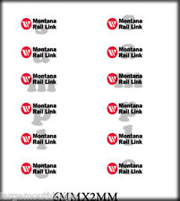 BOLEY VEHICLE MODEL DOOR DECALS 1/87 MONTANA RAIL LINK 6MM X 2MM