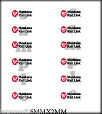 PEEL & STICK BOLEY VEHICLE MODEL DOOR DECALS 1/87 MONTANA RAIL LINK 6MM X 2MM