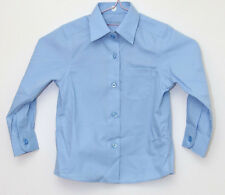 marks and spencers size 2-3 yrs long sleeved blue school shirt new no tagged