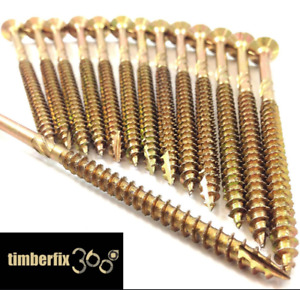 Box of 50 - 6 x 200mm long Decking / sleeper timber wood screws pozi drive