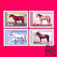 KYRGYZSTAN 2009 Nature Fauna Domestic Farm Animals Horses 4v Mi 592A-595A MNH