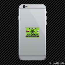 Zombie Hawaii State Hunting Permit Cell Phone Sticker Mobile HI