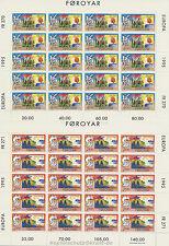 EUROPA CEPT 1995 FRIEDEN PEACE FREIHEIT - FÄRÖER FOROYAR 278-79 KLEINBOGEN **