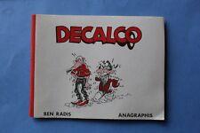 Rare DECALCO Ben Radis Anagraphis / Decalcomanie BD