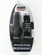 Wireless Gear Retractable Car Charger - IPhone , BlackBerry , IPod - BRANd NEW