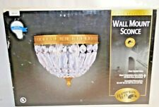 Hampton Bay Wall Mount Sconce Cameo Brass Finish Brand New 046335847668