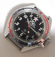 VOSTOK KOMANDIRSKIE MILITARY TANK Wristwatch ZAKAZ MO USSR Ministry of Defence