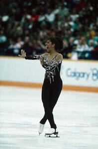 OLD FIGURE SKATING PHOTO Debi Thomas At The 1988 Winter Olympics