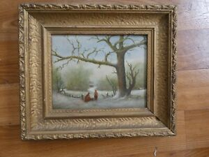 Henry Harding Oil Painting on canvas of Snow Scene