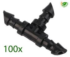 100x Te para microtubo de 4 mm Micro riego ( 100 Piezas ) tubo goteo tuberia