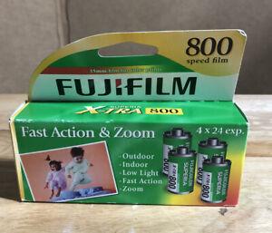Fiji-film Superia Xtra 4 Rolls Film Sealed Box 800 Speed 35 Mm Film Exp 10/2014