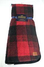 Pendleton Home Collection Red Black Plaid Throw Blanket 50 X 70