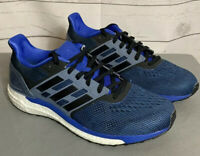 NEW Adidas Supernova Boost Men Running Shoes Hi-Res Blue Black Steel 8 CG4020]
