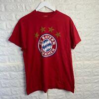 Vintage FC BAYERN MUNCHEN Mens T Shirt Small Red Logo Graphic Tee