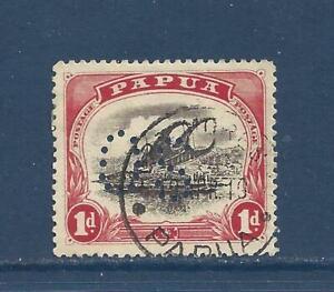 "PAPUA NEW GUINEA - SCOTT UNLISTED - USED -1909 - ""OS"" PERFIN ON LAKATOI VESSEL"