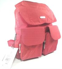 bea10a20b baggallini Red Nylon Mission Backpack Travel Bag Organizer Laptop/tablet  Pocket