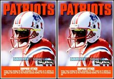 2x SKBOX IMPACT 1992 IRVING  FRYAR NEW ENGLAND PATRIOTS SUPERSTAR #293 MINT LOT