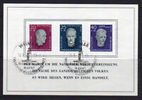 East Germany Miniature Sheet of Stamps c1958 Used (8638)