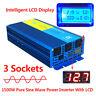 1500W Pure Sine Wave Power Inverter 3000W 12V 240V Boat Camping Car Caravan LCD