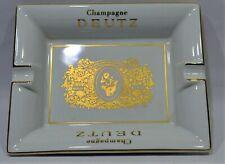 DEUTZ Champagne Grand cendrier vide-poche porcelaine Revol