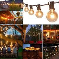 50ft (50 Clear Bulbs)Weatherproof Globe String Festoon Lights G40 Indoor Outdoor