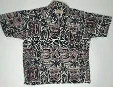 Kuta Lines Vintage Tiki Hawaiian Batik Shirt / Size XL