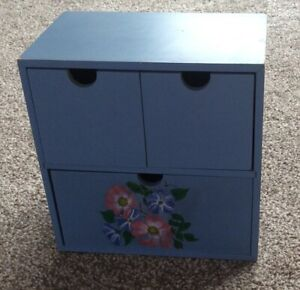 Small decorative chest of drawers/storage box/jewellery box, hand-painted Floral