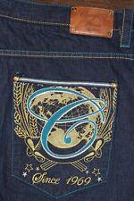 Mens COOGI embroidered denim blue jeans 48W x 36L