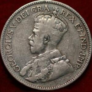 1932 Canada Silver 25 Cents Foreign Coin