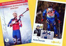 Ole Einar Björndalen-Martin Fourcade (3) - 2 Super-AK pictures + AK FREE