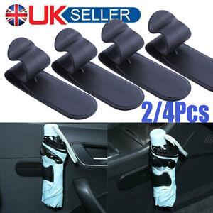 2-4 Universal Car Auto Adhesive Umbrella Holder Hanging Hook Hanger Clip Storage
